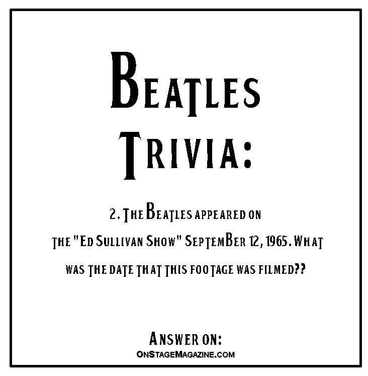 Beatles Trivia 2